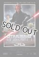 "2012 The Phantom Menace 3D Movie 2 Sided 27""x 40""Poster C-8.5/9"