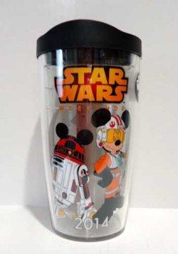 画像1: 2014 Weekends X-Wing Pilot Mickey & R2-MK Tumbler Mug C-8.5/9