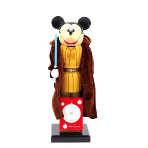 画像: 2015 Disney Theme Park Exclusive Jedi Mickey with Light Saber Nutcracker Figurine C-8.5/9